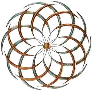 "Bellaa 27239 Metal Wall Art Big Bang Sun Decor Seed of Life Sacred Geometry Sculpture (Multi, 24"" D)"
