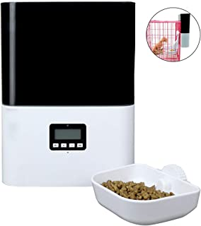 2.5L Automatic Pet Cage Feeder, Food Dispenser for Cats, Little Dogs and Small Animals with Pet Crate, Voice Recording Timer Programmable Up to 4 Meals A Day