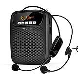 Amplificador de voz inalambrico Bluetooth con 2 micrófonos, 15 W altavoz amplificador portátil...