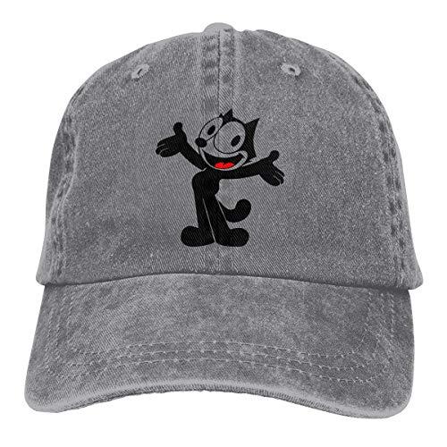 Jeans Hat Smart Felix The Pussy Cat Baseball Cap Sports Cap Adult Trucker Hat Mesh Cap Gray
