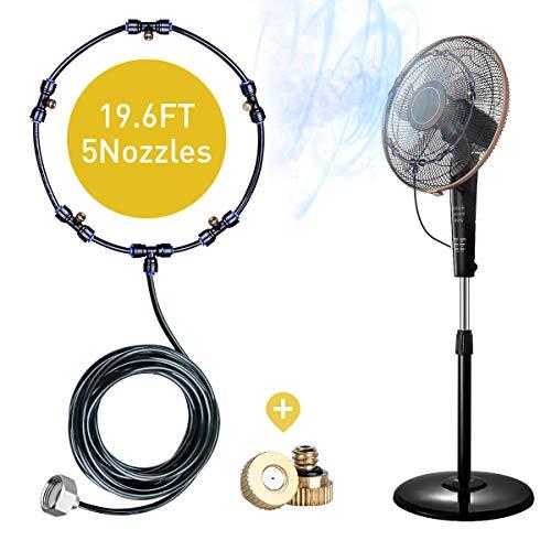 havit Kit de Ventilador de Niebla para Exteriores, Incluye Cable de Niebla de19.36 pies (5.9M) 5 boquillas de Niebla de latón y un Adaptador de latón (3/4)