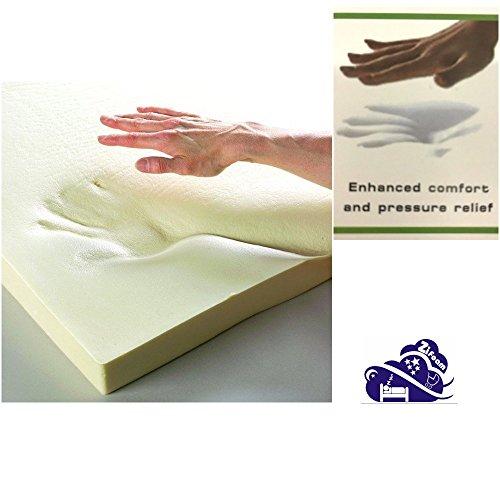 Orthopaedic 1' Memory Foam Mattress Toppers (2.5cm) Cotbed 70 x 140 cm (120 x 60 x 2.5CM / 47'x 23.5' 1 Inch)