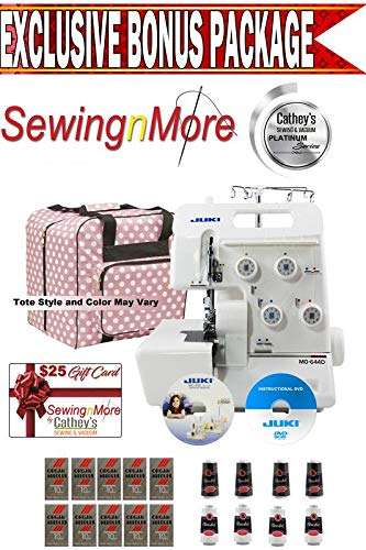 Best Review Of Juki MO-644D 2-needle, 2/3/4 Thread Serger w/ Platinum Series Exclusive Bonus Package...