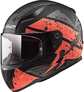 LS2 FF353 Full Face Helmet (Black and Orange, L)