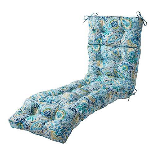 Greendale Home Fashions AZ4804-BALTIC Paisley 72 x 22-inch Outdoor Chaise Lounge Cushion