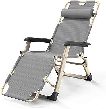 BDRSLX Garden Loungers and Recliners Gray Folding Adjustable Sun Lounger Chair Garden Sunbed Recliner for The Beach Pool Outd