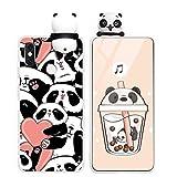 Yoedge Funda para Xiaomi Redmi Note 7, Silicona Cárcasa 3D Animal Muñecas Toy con Dibujos Antigolpes de Diseño Suave TPU Ultrafina Case Fundas Movil para Xiaomi Redmi Note 7 6,3', Panda 3