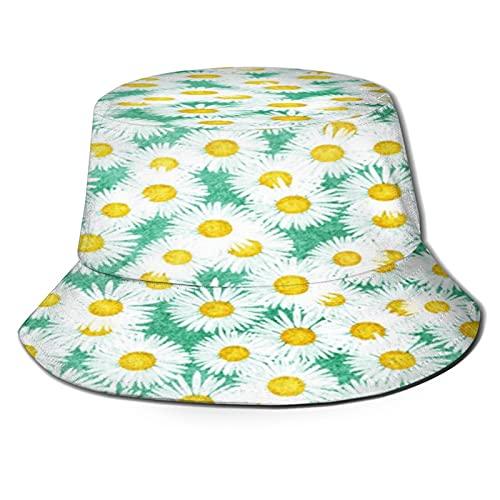 N \ A Pequeña Margarita Negro Cubo Sombrero Al Aire Libre Plegable Sombrero De Pescador Moda Pescador Playa Sombrero De Sol Femenino Adolescente