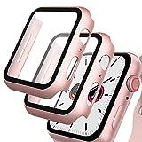 GeeRic 2PCS Pellicola Vetro Temperato Compatibile per Apple Watch 40mm Serie 6/5/4/SE Cover Anti-Urti Pellicola Copertura Completa Custodia Compatibile per Apple Watch 40mm Serie 6/5/4/SE Rosa-O