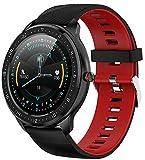 YGMDSL Smart Sportuhr Armbanduhr Smart Uhr Männer IP68 wasserdichte Sport Fitness Smartwatch Mit Herzfrequenz Blutdruckaktivität Fitness Tracker (Red)