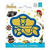 Decora 0255099 Tagliapasta Maschera Pirata, Plastica