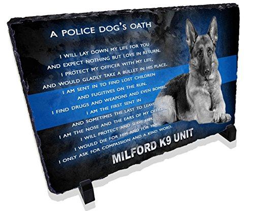 Redeye Laserworks Personalized Police Dog K9 Prayer Stone Plaque from