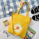 Señoras Hombro Messenger Bolsa de Lona portátil Estudiante Mochila Coreana Bolso Femenino Tendencia Amarillo
