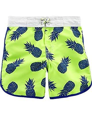 Osh Kosh Toddler Boys' Swim Trunks, Pineapple, 4T