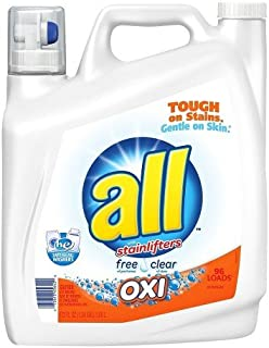 All Free & Clear With Oxi Liquid Laundry Detergent 162 Oz