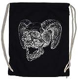 Urban Backwoods Horned Skull Bolsa de Cuerdas con Cordón Gimnasio