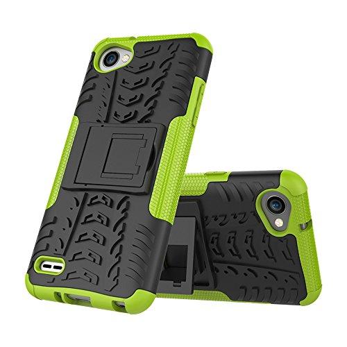 FoneExpert® LG Q6 Handy Tasche, Hülle Abdeckung Cover schutzhülle Tough Strong Rugged Shock Proof Heavy Duty Hülle Für LG Q6