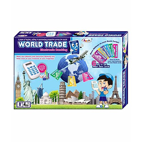 Annie World Trade, Property Trading Game - Electronic Banking with Swipe Machine