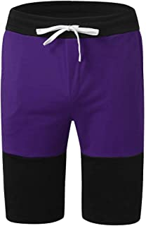 Men Shorts Swimsuit Stripe Sports Running Hip Hop Trousers Casual Beach Drawstring Short Pants Sweatpants