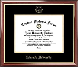 Laminated Visuals Columbia University Lions - Embossed Seal - Mahogany Gold Trim - Diploma Frame