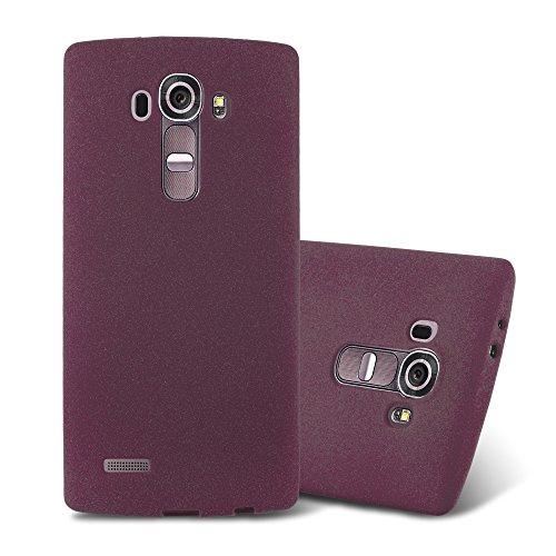 Cadorabo Funda para LG G4 / G4 Plus en Frost Lila Burdeos - Cubierta Proteccíon de Silicona TPU Delgada e Flexible con Antichoque - Gel Case Cover Carcasa Ligera
