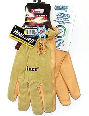 KINCO 94HK - Lined Grain Suede Pigskin Work/Ski Gloves - with Nikwax Waterproofing