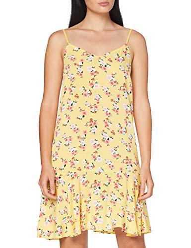 PIECES Damen PCNYA Slip Dress PB Kleid, Lemon Drop, L