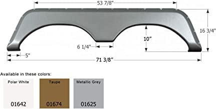 ICON 01625 Tandem Axle Fender Skirt FS771 for Jayco-Metallic Gray