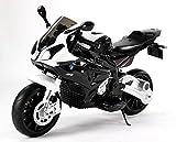 RIRICAR Motocicleta Eléctrica BMW S 1000 RR, Vehículo Alimentado por Batería, Autorizado, Ruedas Suaves de EVA, Marco de Metal, Motor 2 x, Batería de 12V