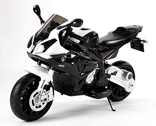 RIRICAR Kinder-Elektro Motorrad BMW S 1000 RR Swarz mit Reifen aus Eva