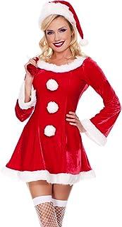 35d397ffd94 MissFox Mère Noël Déguisement Manches Longues Fantaisie Robe