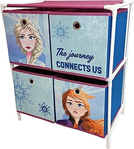 Arditex Eiskönigin 2 Vier Teil Schublade Aufbewahrung Einheit Kinder Spielzeug Kleidung Spiele Stoff Regale Lager
