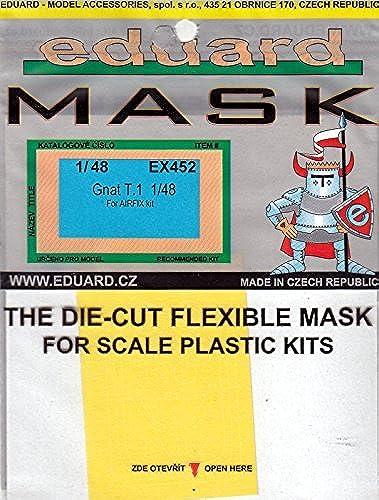 marcas en línea venta barata EDUEX452 1 1 1 48 Eduard Mask - Gnat T.1 (for use with the Airfix model kit) [MODEL KIT ACCESSORY] by Eduard  ventas calientes