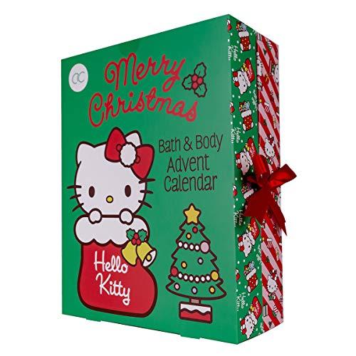 accentra Adventskalender Hello Kitty 2020 für Mädchen, gefüllt mit Beauty-, Bade-, Pflege- und Accessoires-Produkten - für eine entspannte Adventszeit