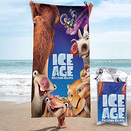 Scrat Sid Ice Age Funny Favorites Toallas de baño Sábanas de baño Tomar el sol Día de los Niños Regalo Absorción de Agua Unisex Impresión 3D Pascua