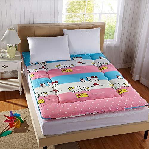 GFYL Japanisches Tatami Boden Matte, Weich Schlafen pad, Zusammenklappbar Ergonomie Design Helfen Schlaf Tatami-matten,I,120 * 200CM