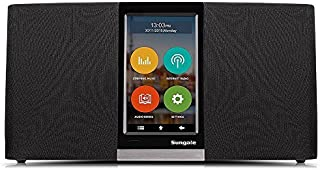 """Sungale WiFi Internet Radio w/ 4.3"""" Easy-Operation Touchscreen, Listen to Your Favorite Music from Thousands of Internet Radio Station & Streaming Music"""