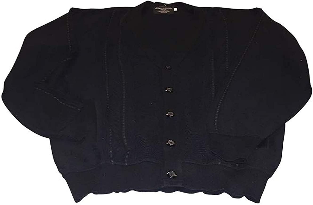 Big and Tall Ultra Luxury Wool Blend Button Front Cardigan
