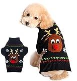 Xiaoyu Sudadera de Perro Ropa de Mascotas para Perros Reno de Navidad, Negro, M