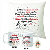 Picrazee Happy Anniversary Gifts Combo for Parents/Mother-Father