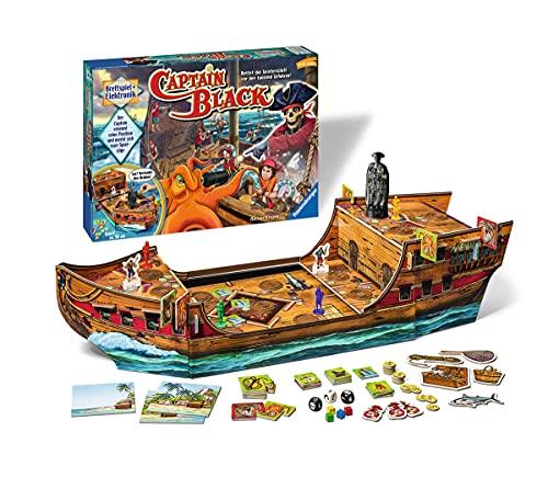 Ravensburger 22293 - Captain Black - Elektronisches Brettspiel für Erwachsene und Kinder ab 6 Jahren, Ideal für Spieleabende mit Freunden oder der Familie für 1-4 Spieler [Exklusiv bei Amazon]