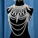 Cadena de hombro Chal Cadena de hombro Ornamento de la cadena del cuerpo de la joyería multicapa de la perla del cuerpo de la cadena del collar de la decoración (color del metal: perla)
