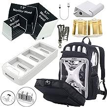 Symik Hardshell Backpack for Phantom 4 Series Bundle with Phantom 4 Charging Hub, 3 Size Monitor Hoods, Tablet Extension Holder, Signal Booster and Remote Lanyard
