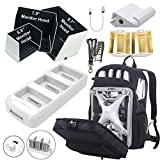 Scootre Hardshell Backpack for Phantom 4 Series Bundle with Phantom 4 Charging Hub, 3 Size Monitor Hoods, Tablet Extension Holder, Signal Booster and Remote Lanyard