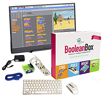 Boolean Box Plus. A Build it Yourself Computer Science kit. Complete with 13 inch Monitor. Designed by Girls for All Kids Interested in STEM Play. by Boolean Box