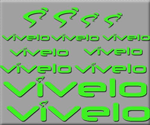 Ecoshirt BT-6RKT-VKEK Stickers Vivelo R0217 Vinyle adhésifs Decal Aufkleber, Vert