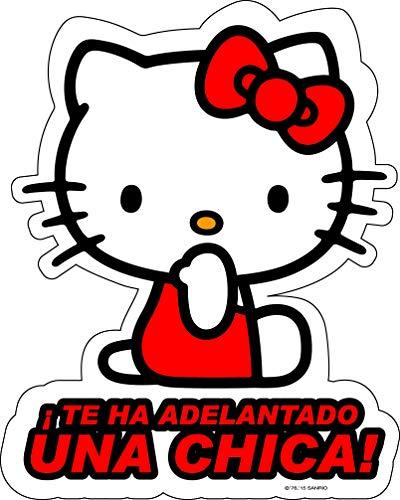 Hello Kitty KIT3011 Adhesivo Cristal Una Chica