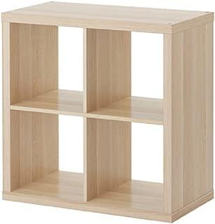 IKEA/イケア KALLAX/カラックス シェルフユニット77x77 cm ホワイトステインオーク調 40324521