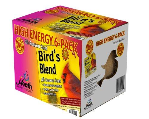 Heath Outdoor Products DD4-6 Gâteau de suif Mélange pour oiseaux Lot de 6