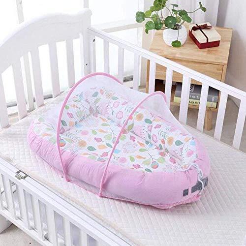 Carpa de viaje plegable para bebé con aislamiento térmico, mosquitera portátil para cuna infantil, cuna, cama, uso doméstico al aire libre, algodón PP elástico 3D, protección de los huesos del bebé, 7